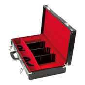 Black Synthetic Leather Knife Attache Case for Western Style Knives