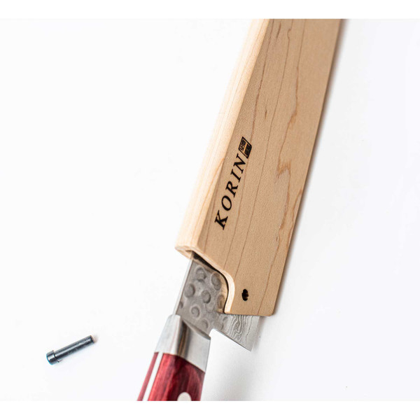 "Image of Magnolia Wood Knife Sheath / Saya Cover for Chef Knife (Gyutou) 9.4"" (24cm) 5"