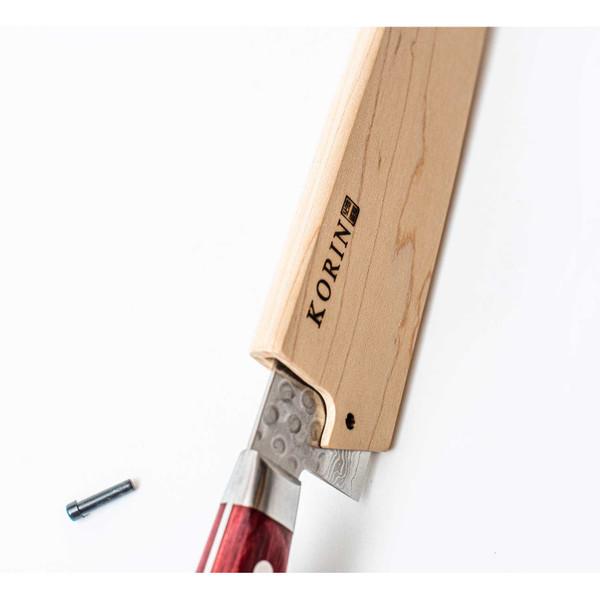 "Image of Magnolia Wood Knife Sheath / Saya Cover for Chef Knife (Gyutou) 10.5"" (27cm) 5"