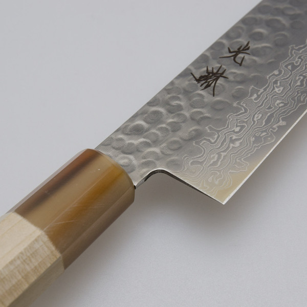 Image of Korin Hammered Damascus Wa-Gyuto with Saya 3