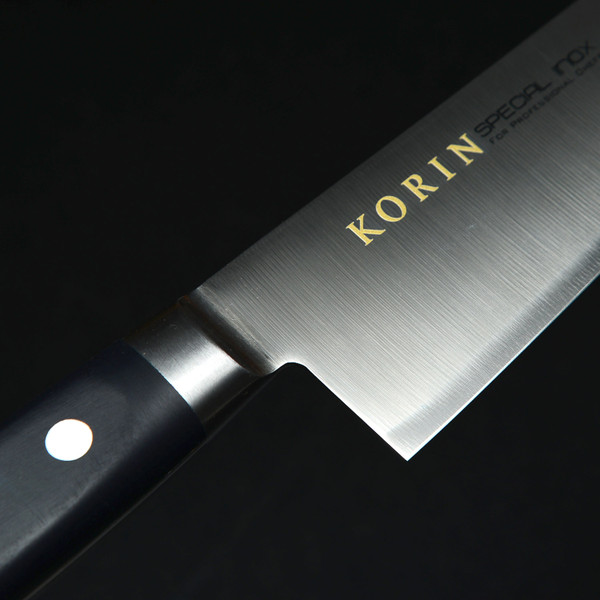 Image of Korin Special Inox Black Handle Gyuto 6