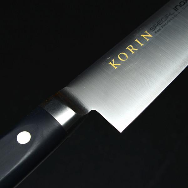 Image of Korin Special Inox Black Handle Sujihiki 4