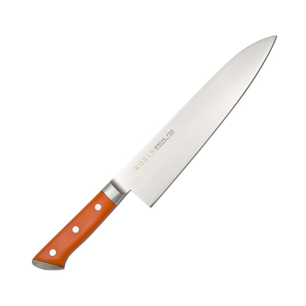 Image of Korin Special Inox Orange Handle Gyuto 1