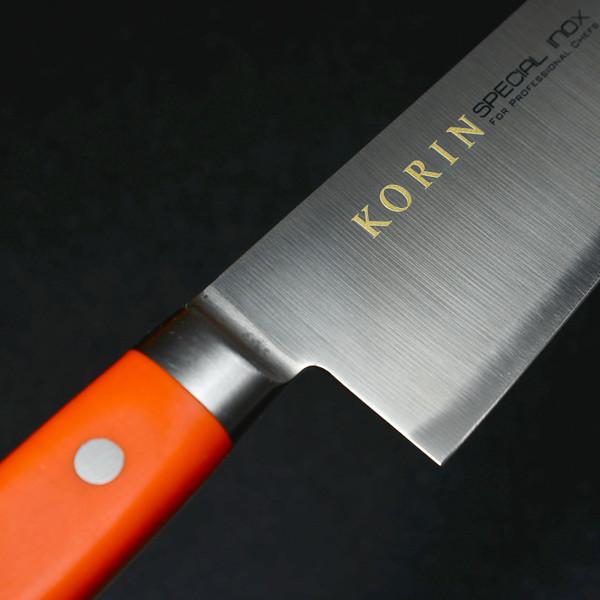 Image of Korin Special Inox Orange Handle Gyuto 4