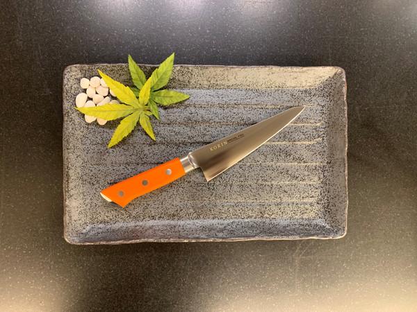 Image of Korin Special Inox Orange Handle Honesuki 2