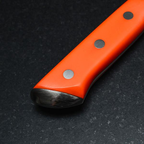 Image of Korin Special Inox Orange Handle Honesuki 4