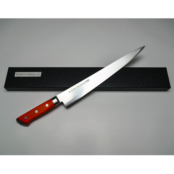 Image of Korin Special Inox Orange Handle Sujihiki 4