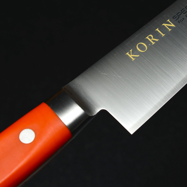 Image of Korin Special Inox Orange Handle Sujihiki 5