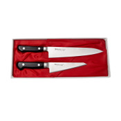 Misono Handmade Molybdenum Gyuto, Honesuki - 2 Piece Knife Set