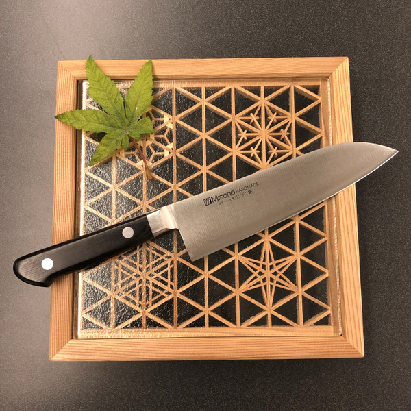 Image of Misono Handmade Molybdenum Santoku 2