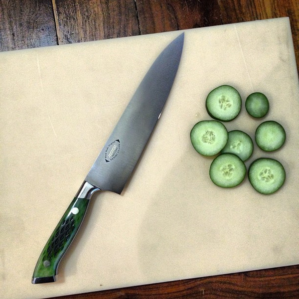 Image of Nenohi Nenox Green Bone Handle Gyuto 4