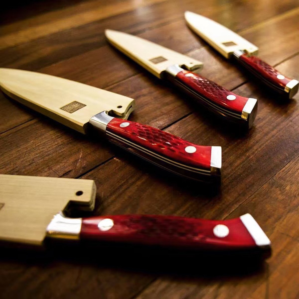 Image of Nenohi Nenox Red Bone Handle Petty 3