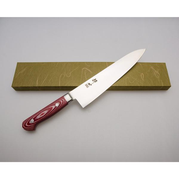 Image of Suisin Premium Inox Rose Red Handle Gyuto 3