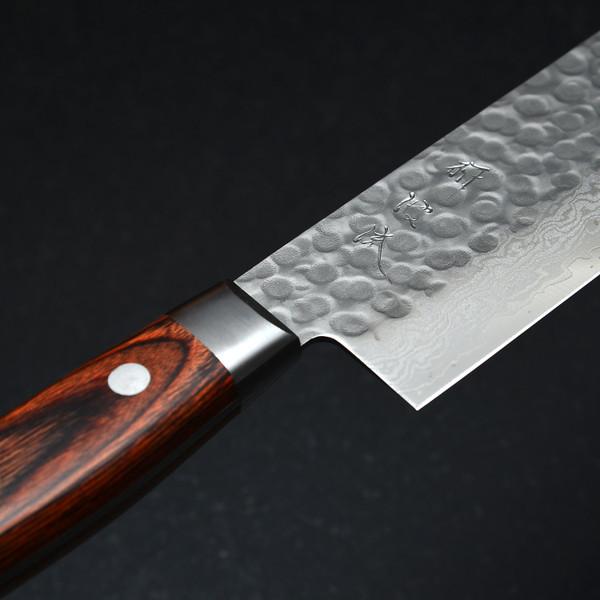 Image of Togiharu Hammered Texture Damascus Nakiri 4