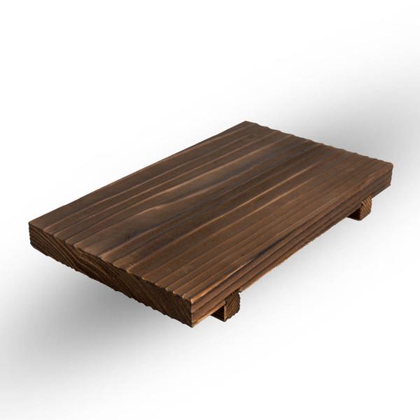 Image of Wooden Base for Mini Rectangle Hida Konro Grill 1