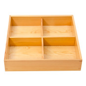 Wooden Kiwami 4 Divided Bento Box