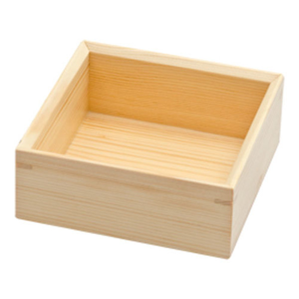 Image of Wooden Kiwami Square Serving Box