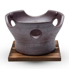 Yakijime Clay Konro with Wooden Base