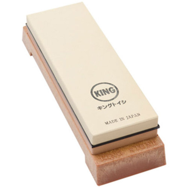 Image of King Two Sided Sharpening Stone with Base - #1000 & #6000