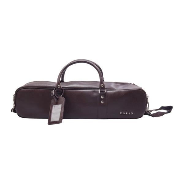 Image of Korin Brown Leather Knife Bag 1