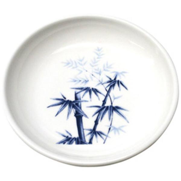 Image of Blue Bamboo Melamine Plastic Sauce Dish