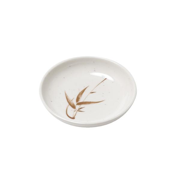 Image of Brown Bamboo Melamine Plastic Sauce Dish
