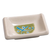 Green Rectangle Melamine Plastic Sauce Dish
