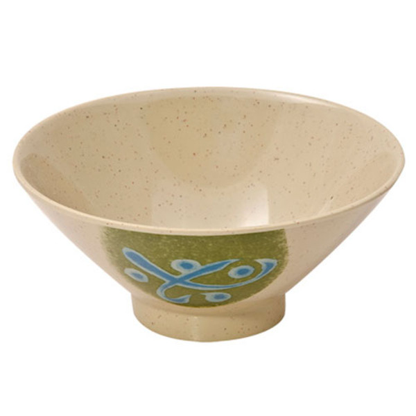 Image of Green Melamine Plastic Rice Bowl