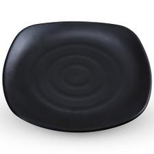 Korin Satin Black Melamine Square Plate (Price By DZ)
