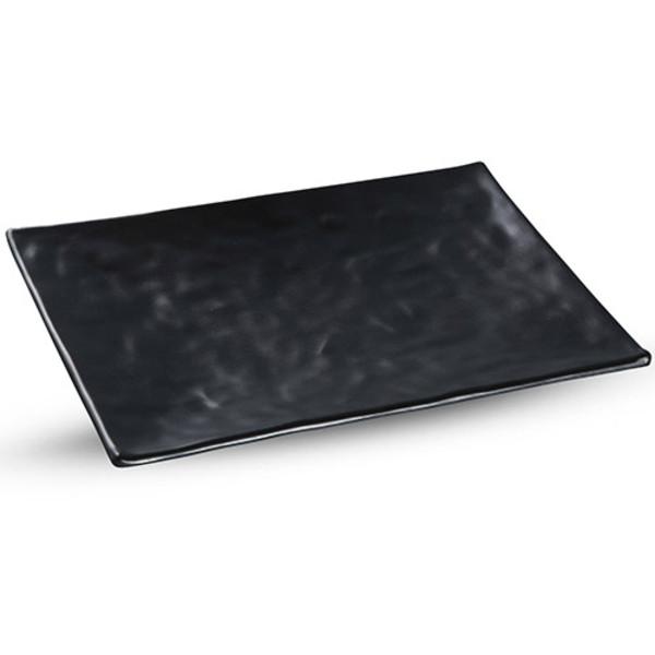Image of Korin Satin Black Melamine Rectangular Plate (Price By DZ)