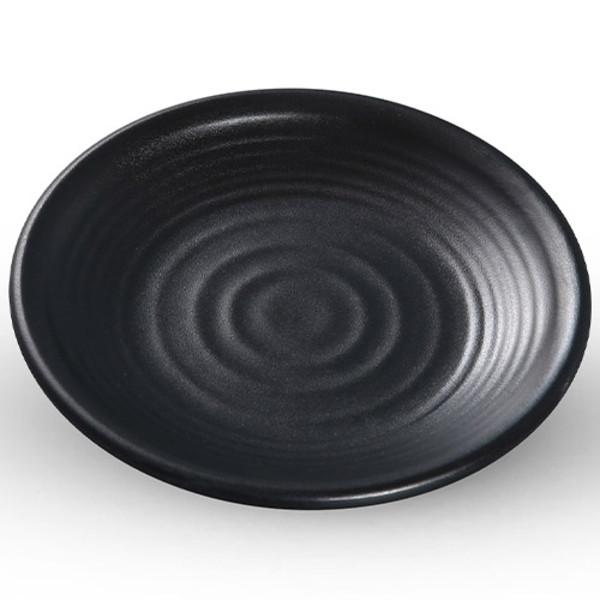 Image of Korin Satin Black Melamine Round Plate (Price By DZ)
