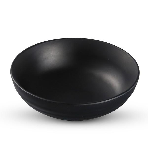 Image of Korin Satin Black Melamine Noodle Bowl (Price By DZ)