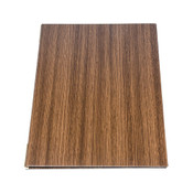 Wood Grain Dark Brown Menu Book