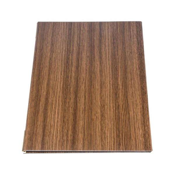 Image of Wood Grain Dark Brown Menu Book 1