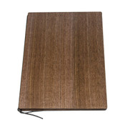 Walnut Wood Grain Brown Menu Book