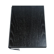 Wood Grain Black Menu Book
