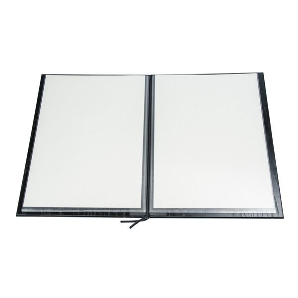 Image of Wood Grain Black Menu Book 1