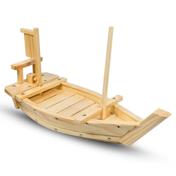 Image of Natural Wood Sushi Boat 1