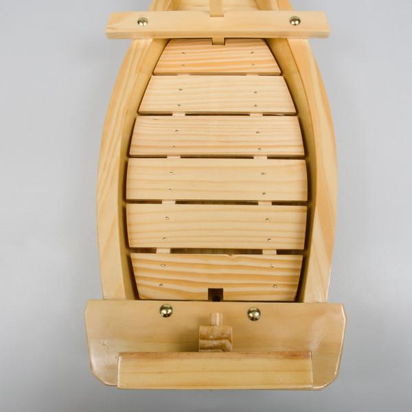 Image of Natural Wood Sushi Boat 3