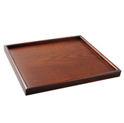 Urushi Lacquered Wooden Square Tray