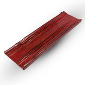 Koboku Acryllic Red Rectangular Long Geta Plate