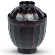 Red Black Plastic Lidded Bowl