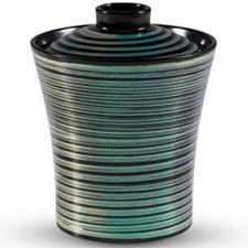 Rainbow Black Plastic Lidded Bowl