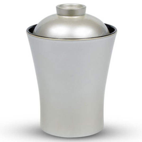 Image of Brushed Silver Plastic Lidded Bowl 1