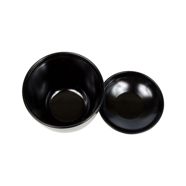 Image of Brushed Gold Plastic Lidded Bowl 2
