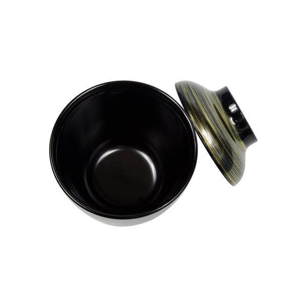 Image of Brushed Black Gold Plastic Lidded Bowl 2