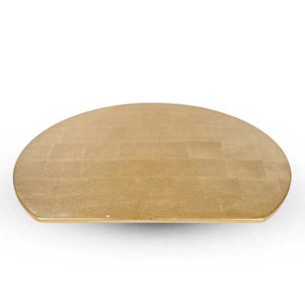 Image of Washi Gold Leaf Wooden Half Moon Tray 1