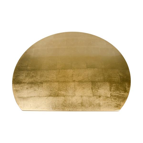 Image of Washi Gold Leaf Wooden Half Moon Tray 2