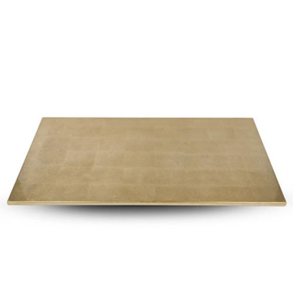 Image of Washi Gold Leaf Wooden Rectangular Tray 1