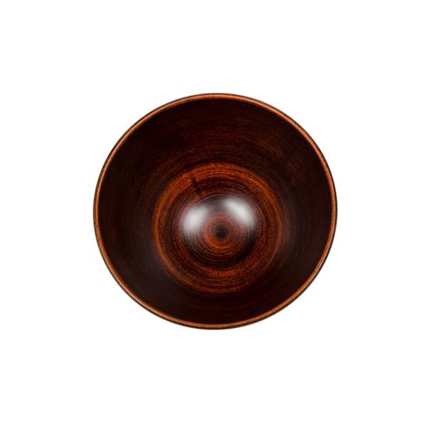 Image of Retro Brown Plastic Round Bowl 2